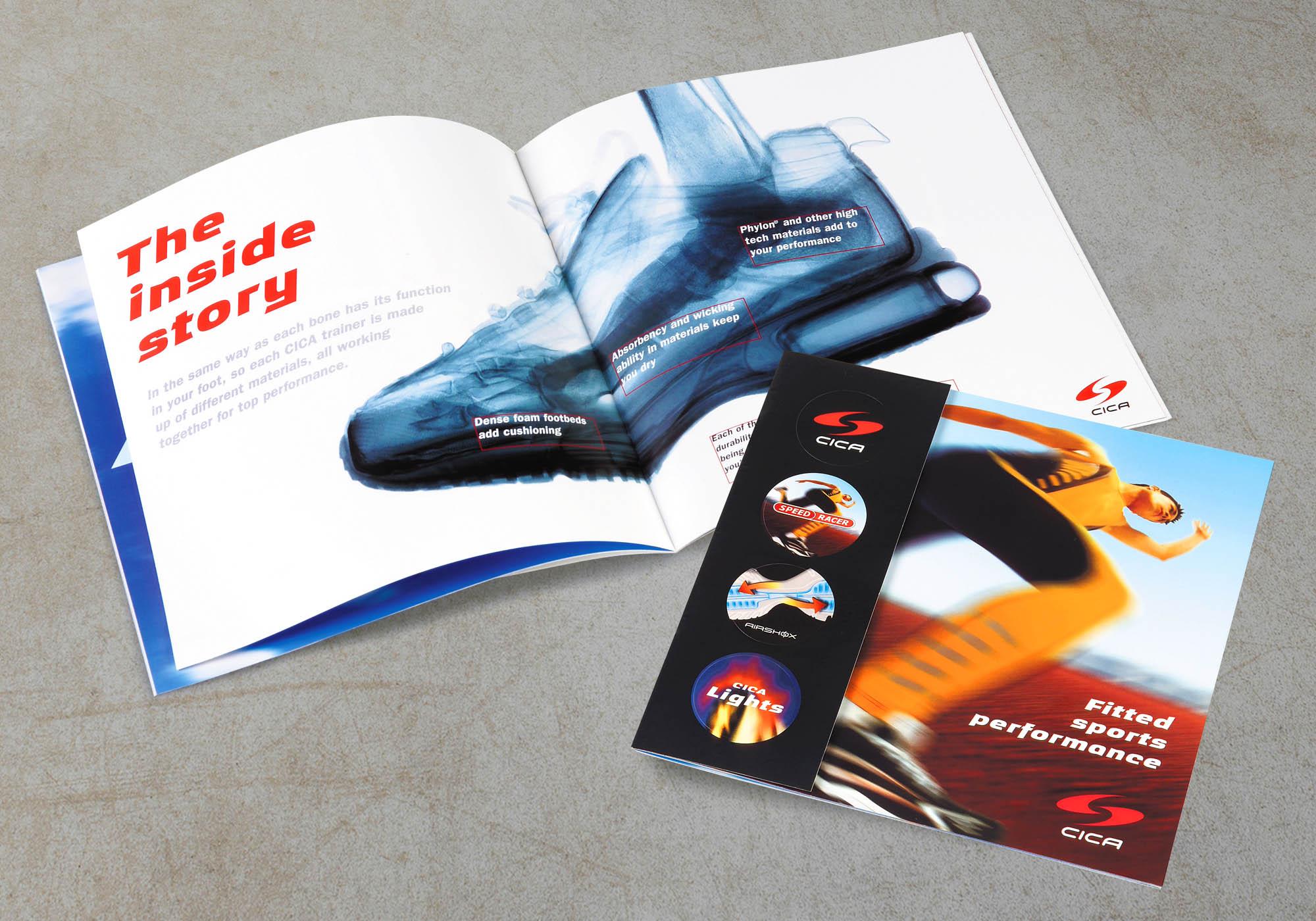Clarks brochure design