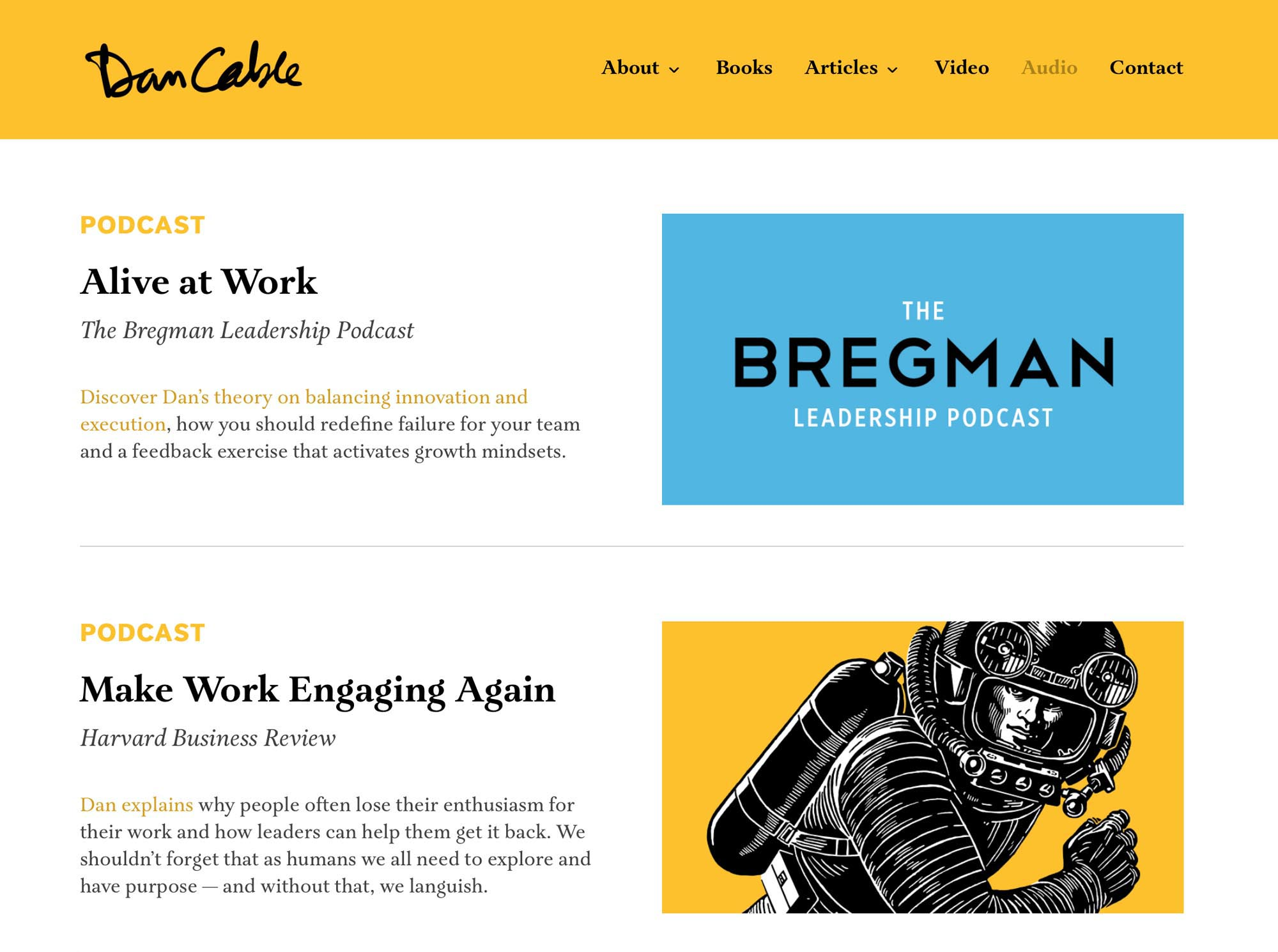 Dan Cable website design