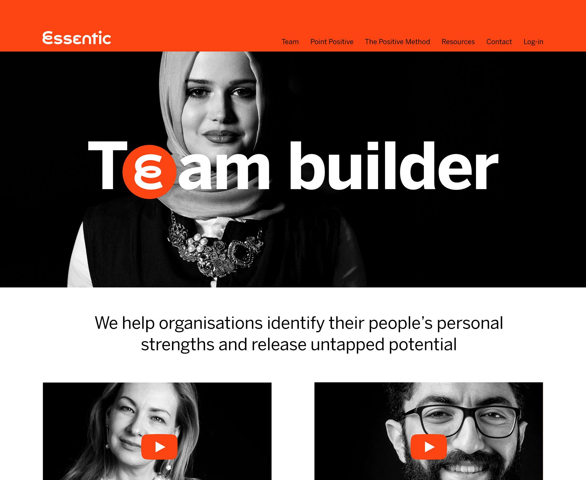 Essentic website design