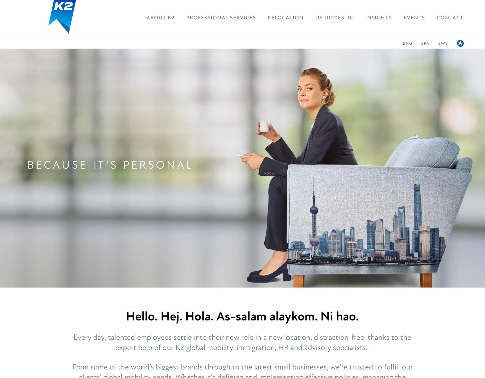 K2 website design