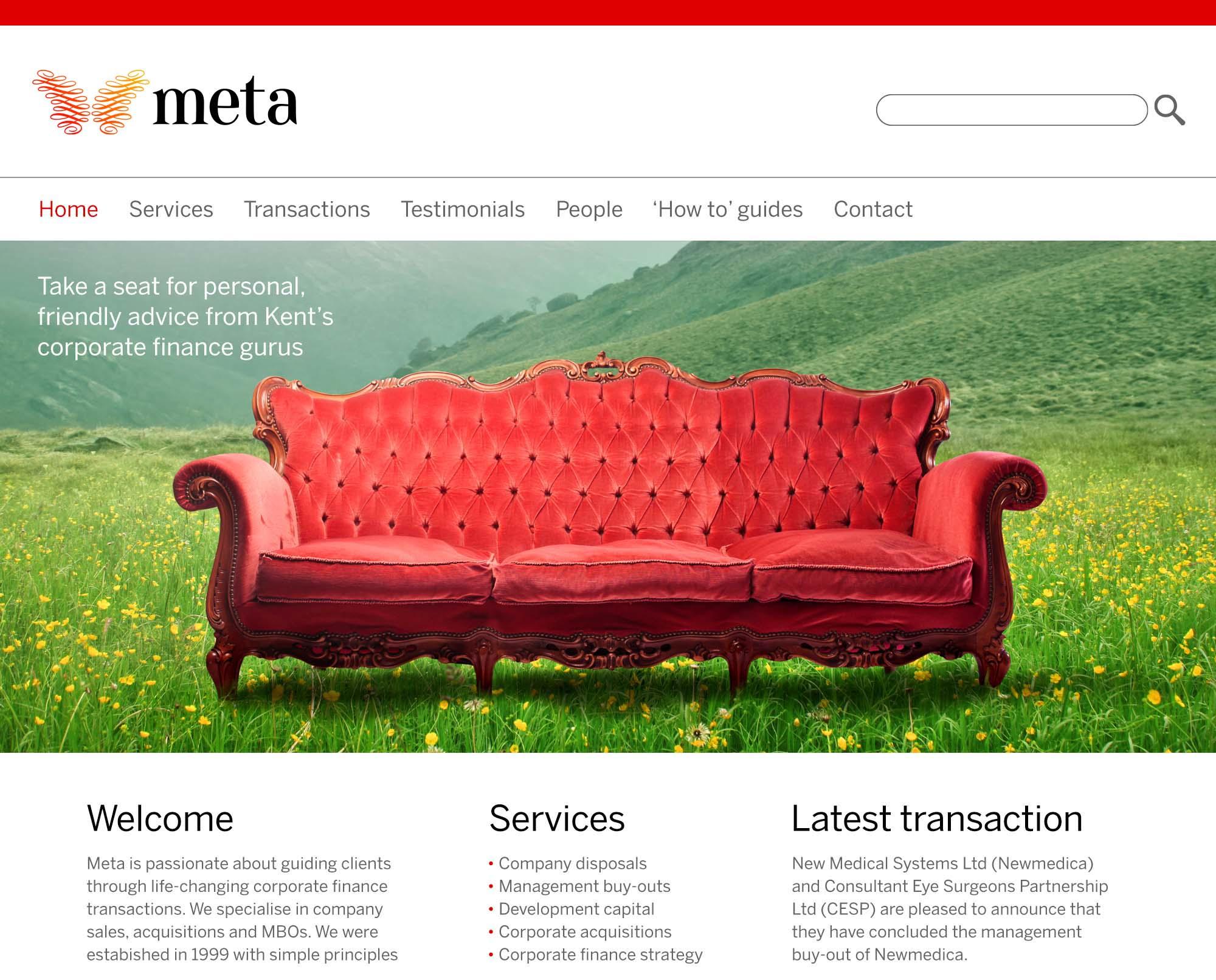 Meta website design