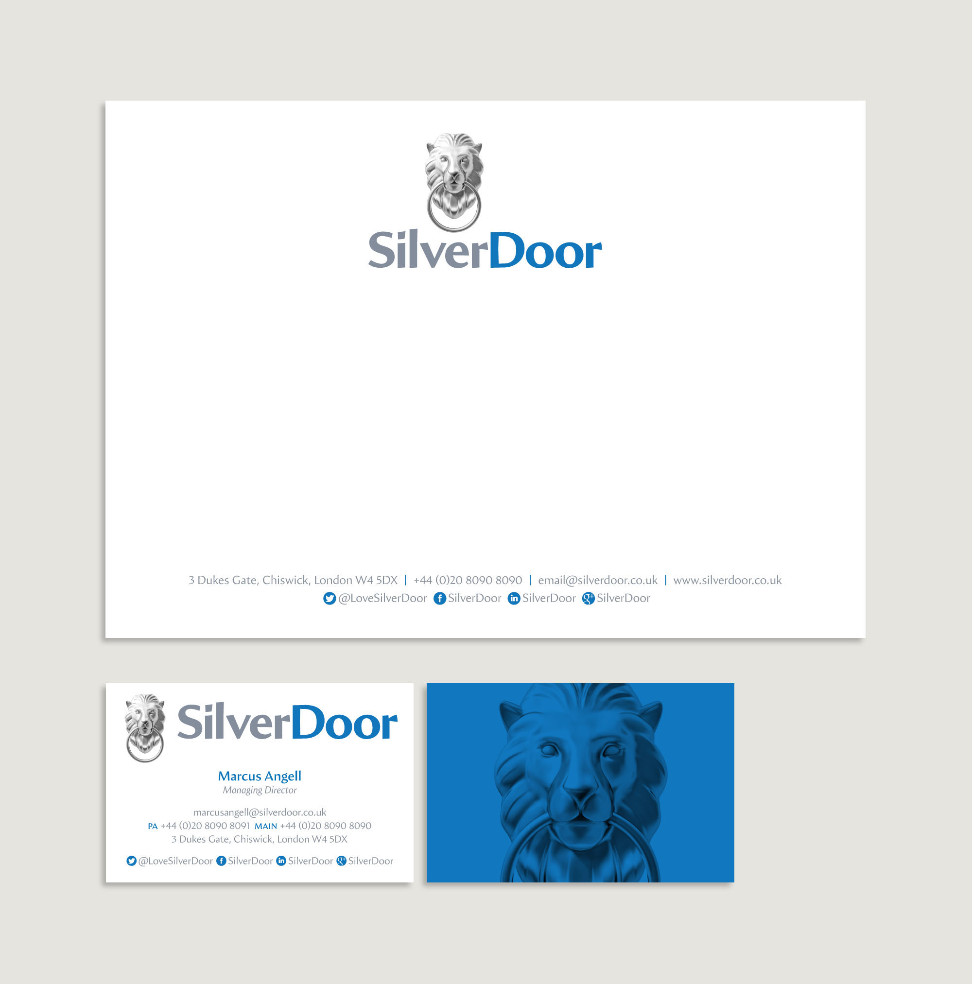 SilverDoor stationery design