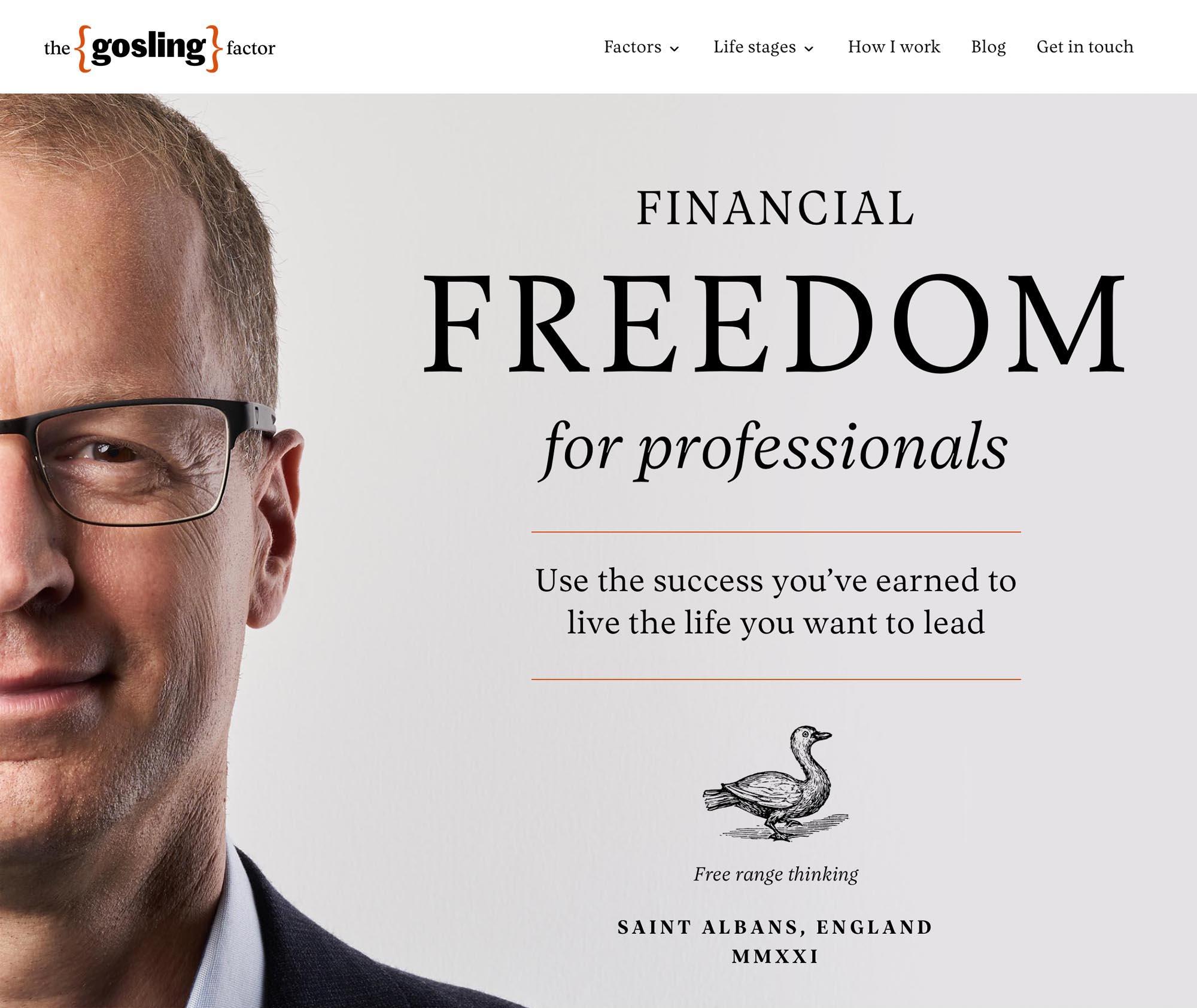 The Gosling Factor web design