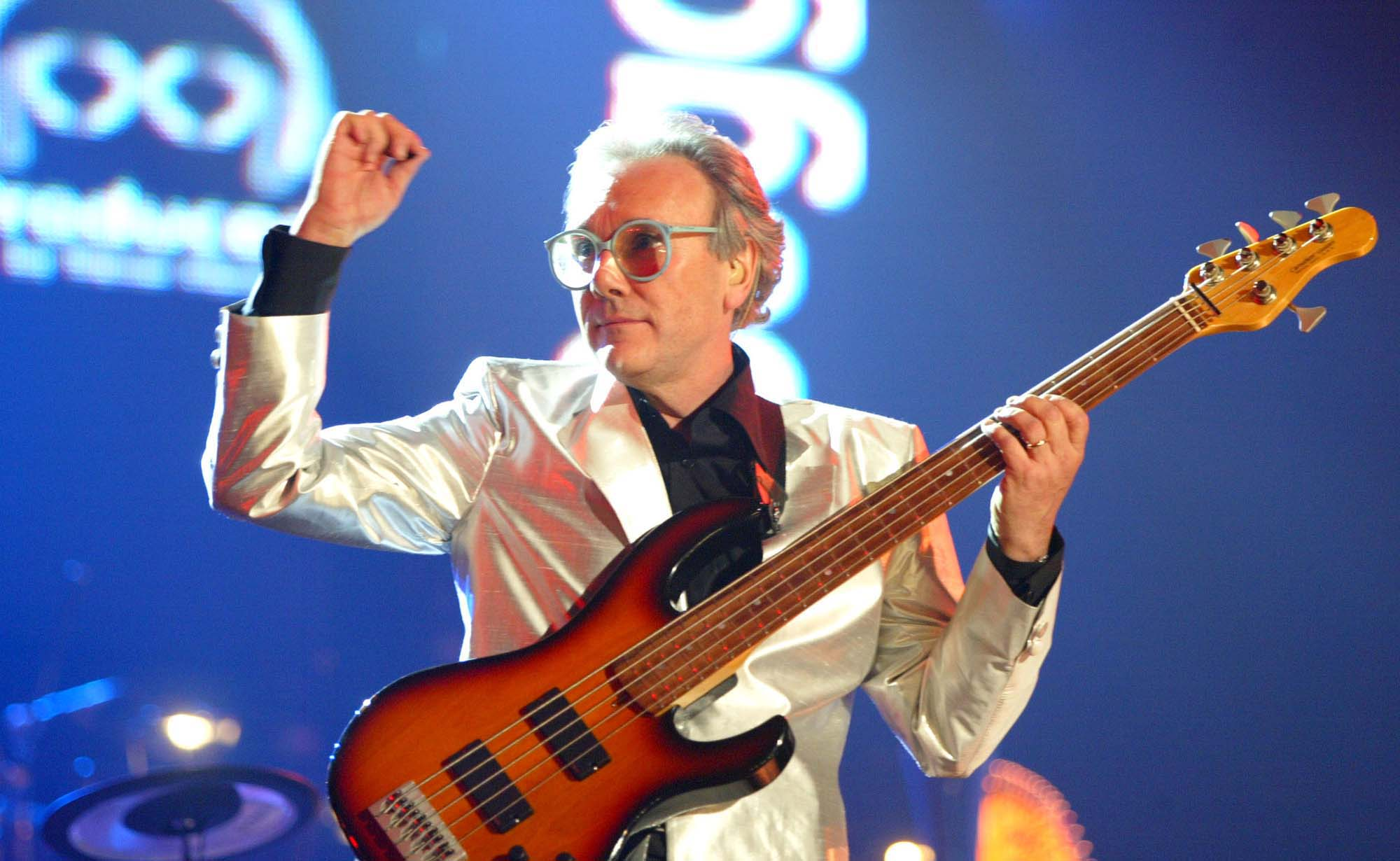 Trevor Horn plays bass