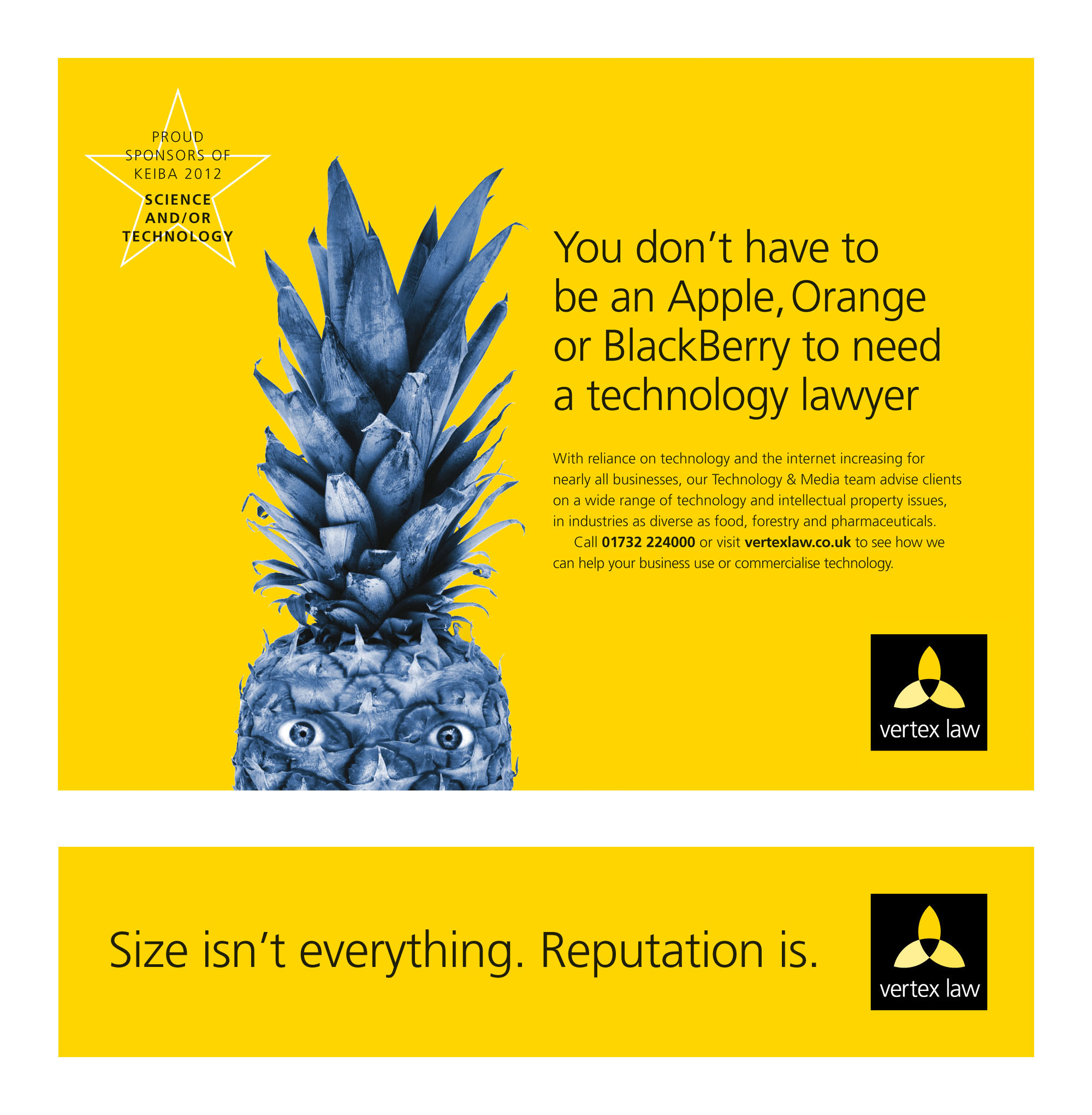 Vertex Law technology team ad